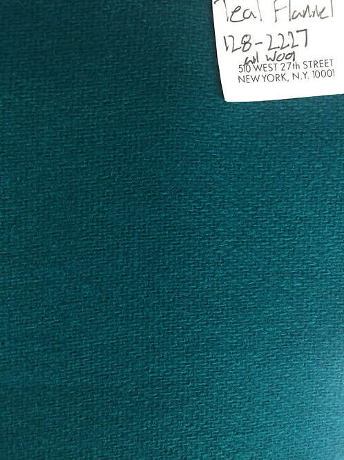 Teal All Wool Flannel Fabric 128-2227
