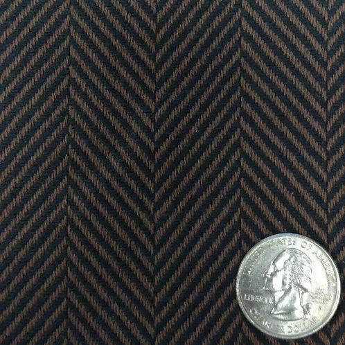 Black and Brown Polyester Herringbone 12861