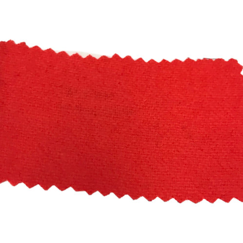 Coral Orange All Wool Flannel Fabric 13114-10