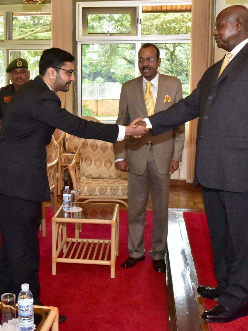 With President Museveni