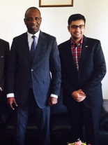 With PM of Mozambique