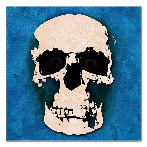 Skull on Blue