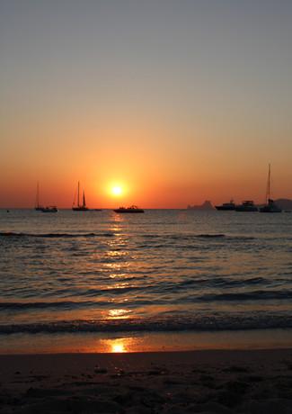 Formentera beach sunset