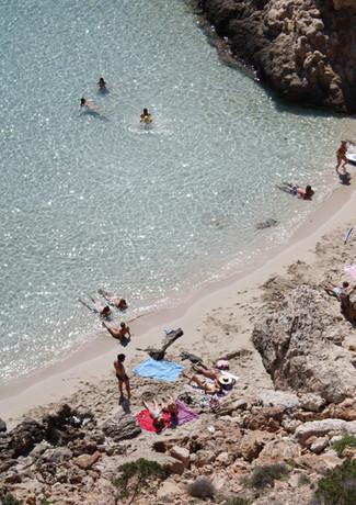 Secret beach Cala Tarida