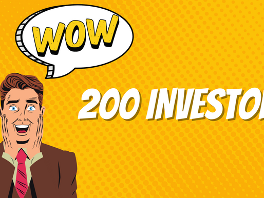 Major #milestone: 200+ investors, 320+ followers, soon 60%