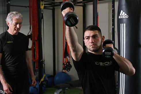 Men training for boxing