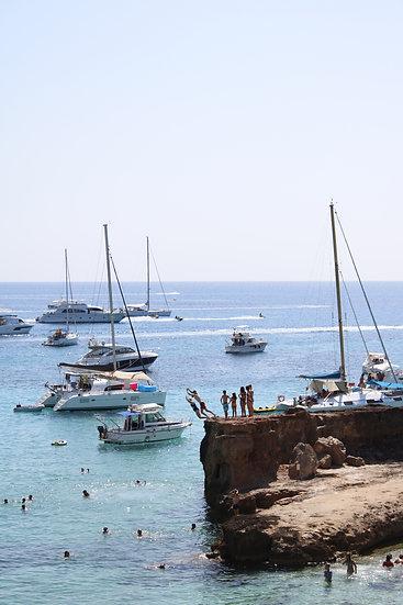 Cliff diving, Cala Tarida