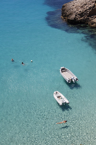 Crystal-clear waters of Ibiza