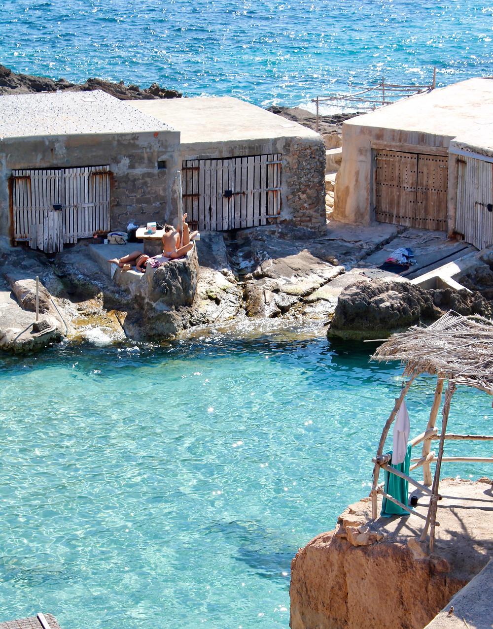 Cala Tarida's hidden beach