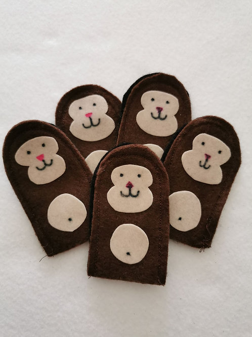 5 Monkey Finger Puppets