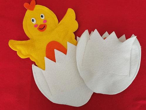 Peeka Boo Chicken Hand Puppet