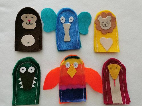 6 Jungle Finger Puppets