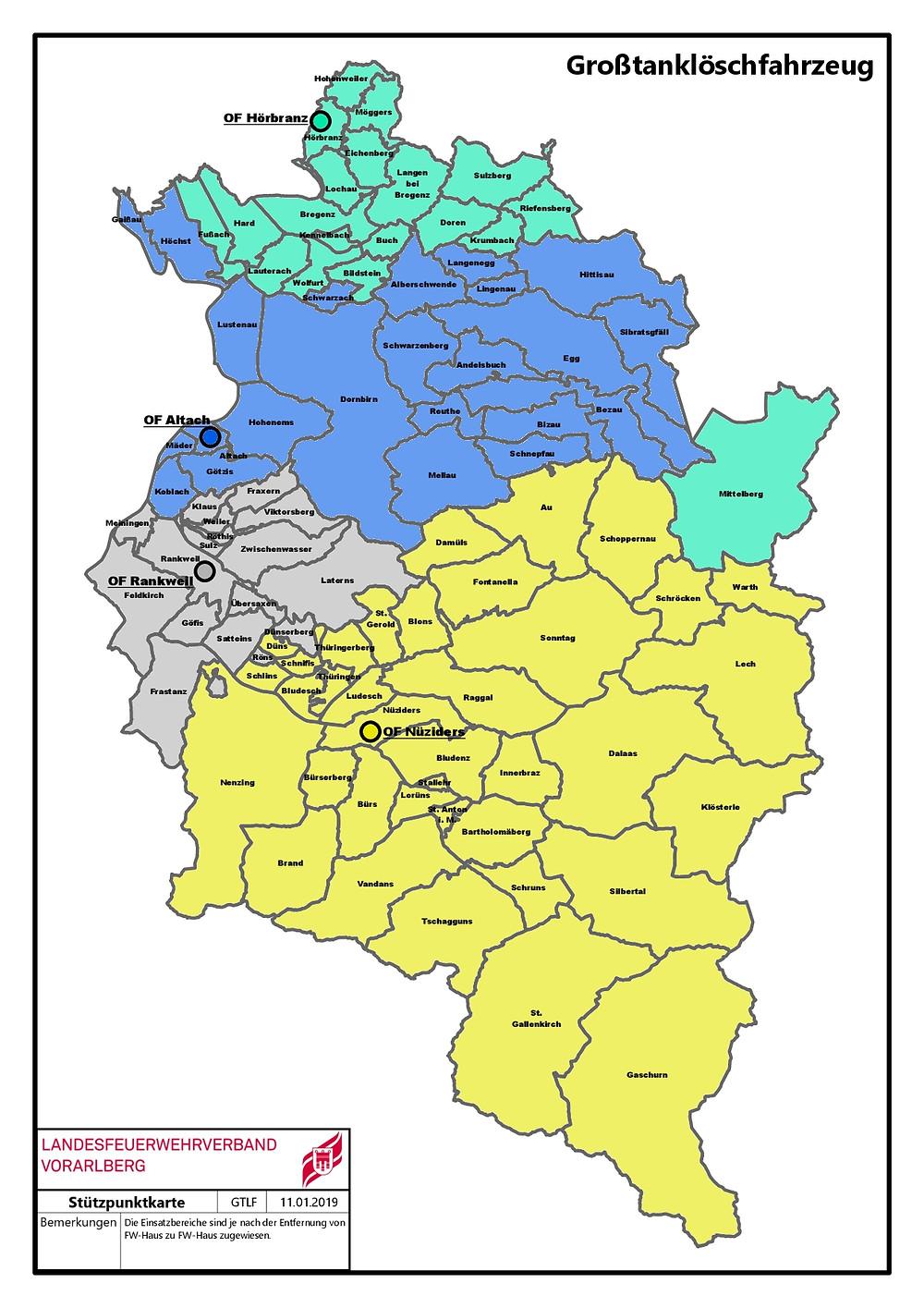 Großtanklöschfahrzeuge in Vorarlberg - Landesfeuerwehrverband Vorarlberg
