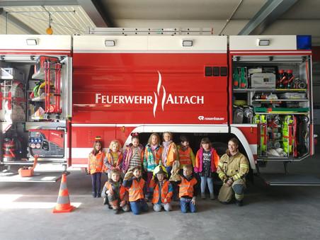 Kindergartengruppen zu Besuch im Feuerwehrhaus