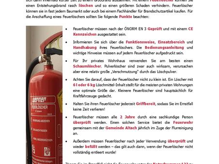 Brandschutztipps - Feuerlöscher