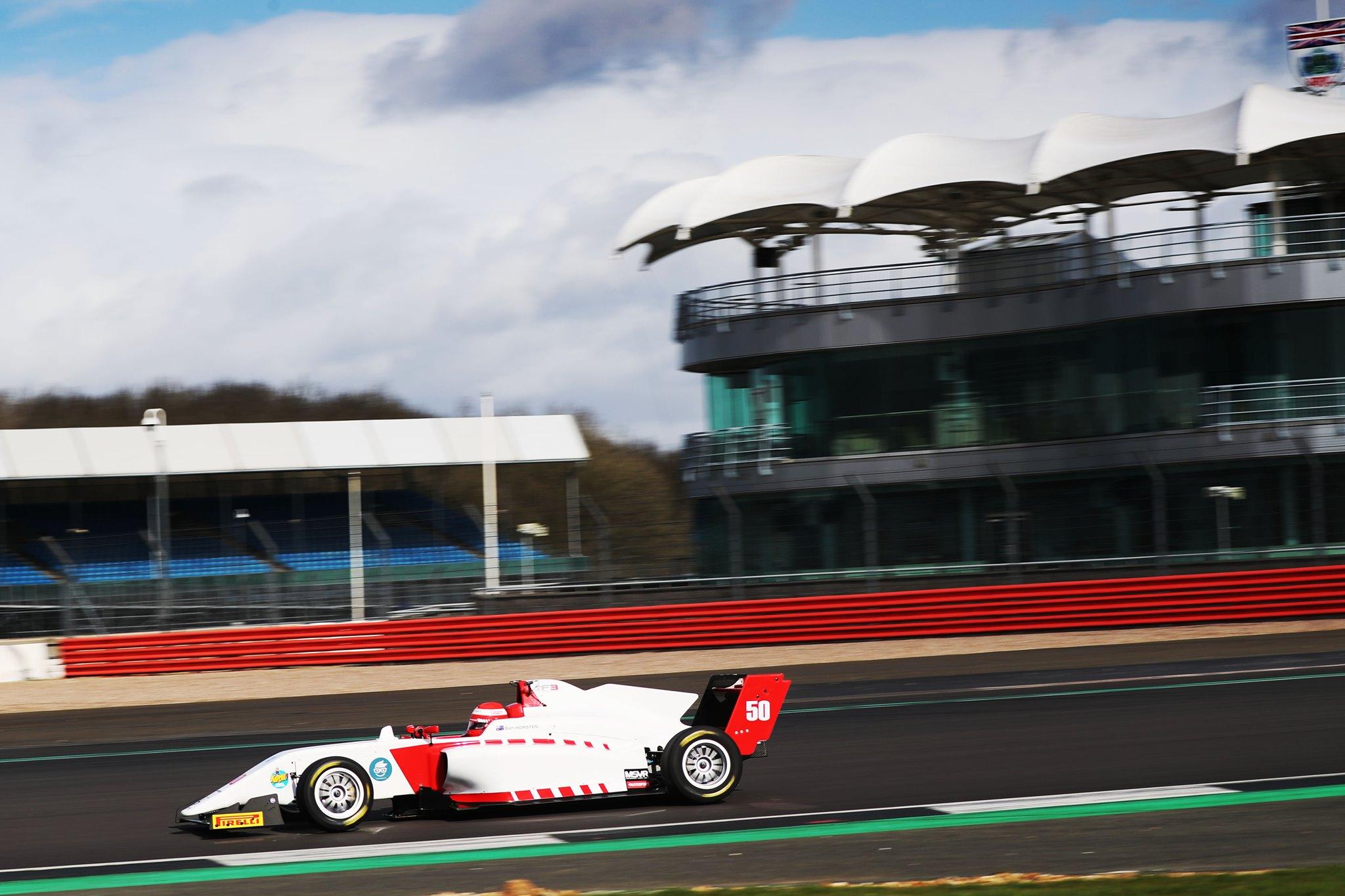 Bart Horsten British F3 Test Silverstone