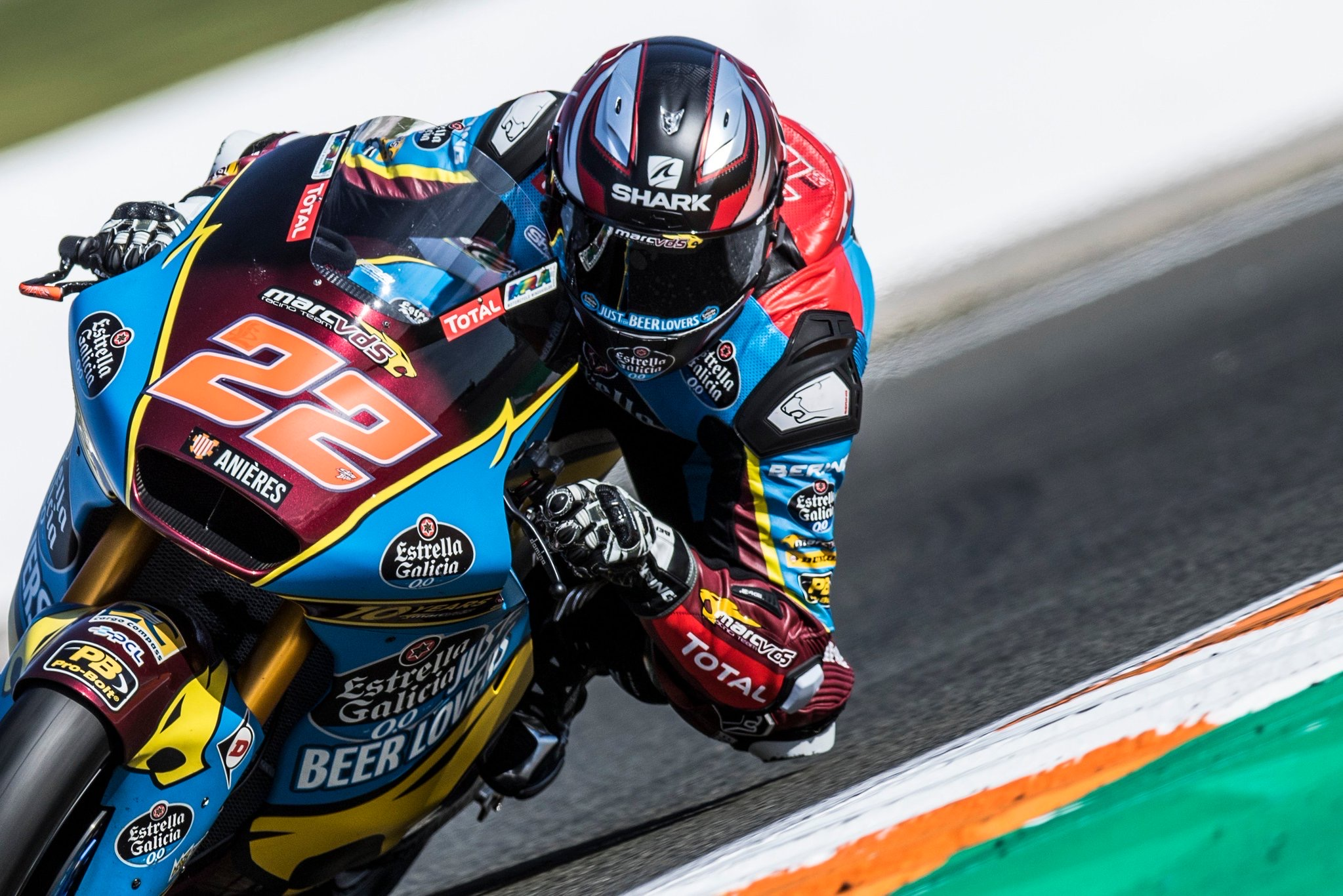 Sam Lowes Valencia Moto2 Test