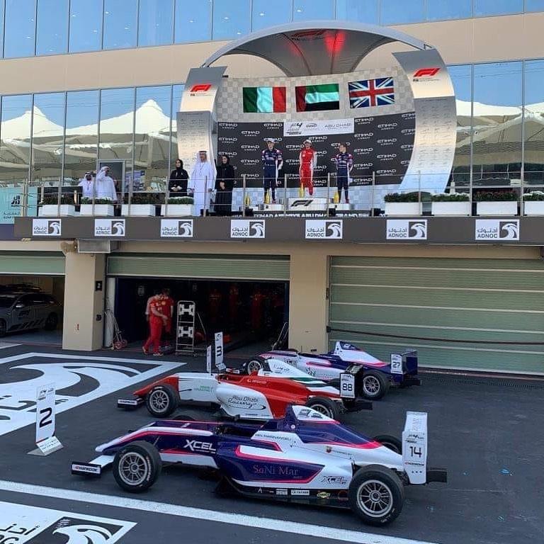Alex Connor Podium Abu Dhabi F1 Support Race