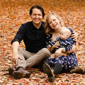 Family Portrait in Autumn leaves
