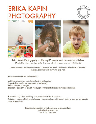 Special kids photography promo!