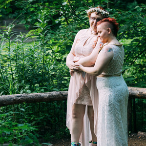 A beautiful socially distant queer wedding