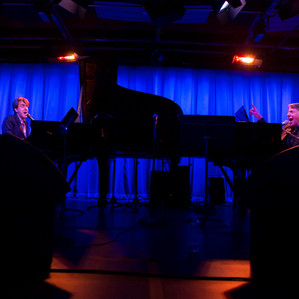 Jason Robert Brown performing with Stephen Schwartz with special guest Jessica Vosk