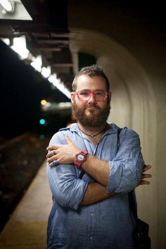 Martin at the subway platform