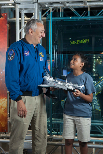 Mike Massimino at the Intrepid Museum