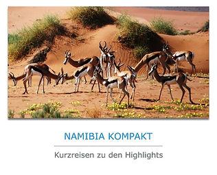 Namibia Kurzreisen