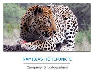 Namibia Camping und Lodge Safaris