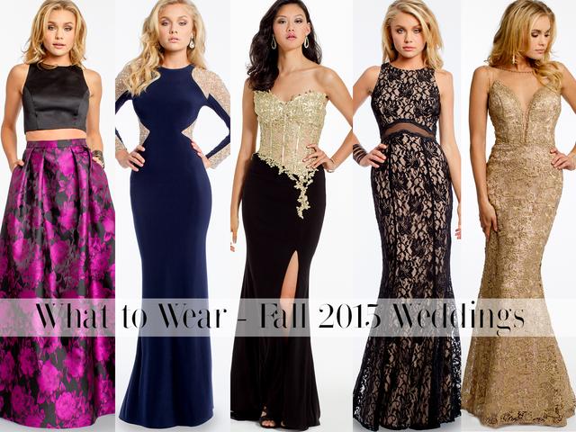 What To Wear Fall Winter 2015 Weddings