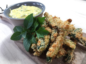 Zucchini and parmesan fries