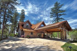 Concrete Log Home