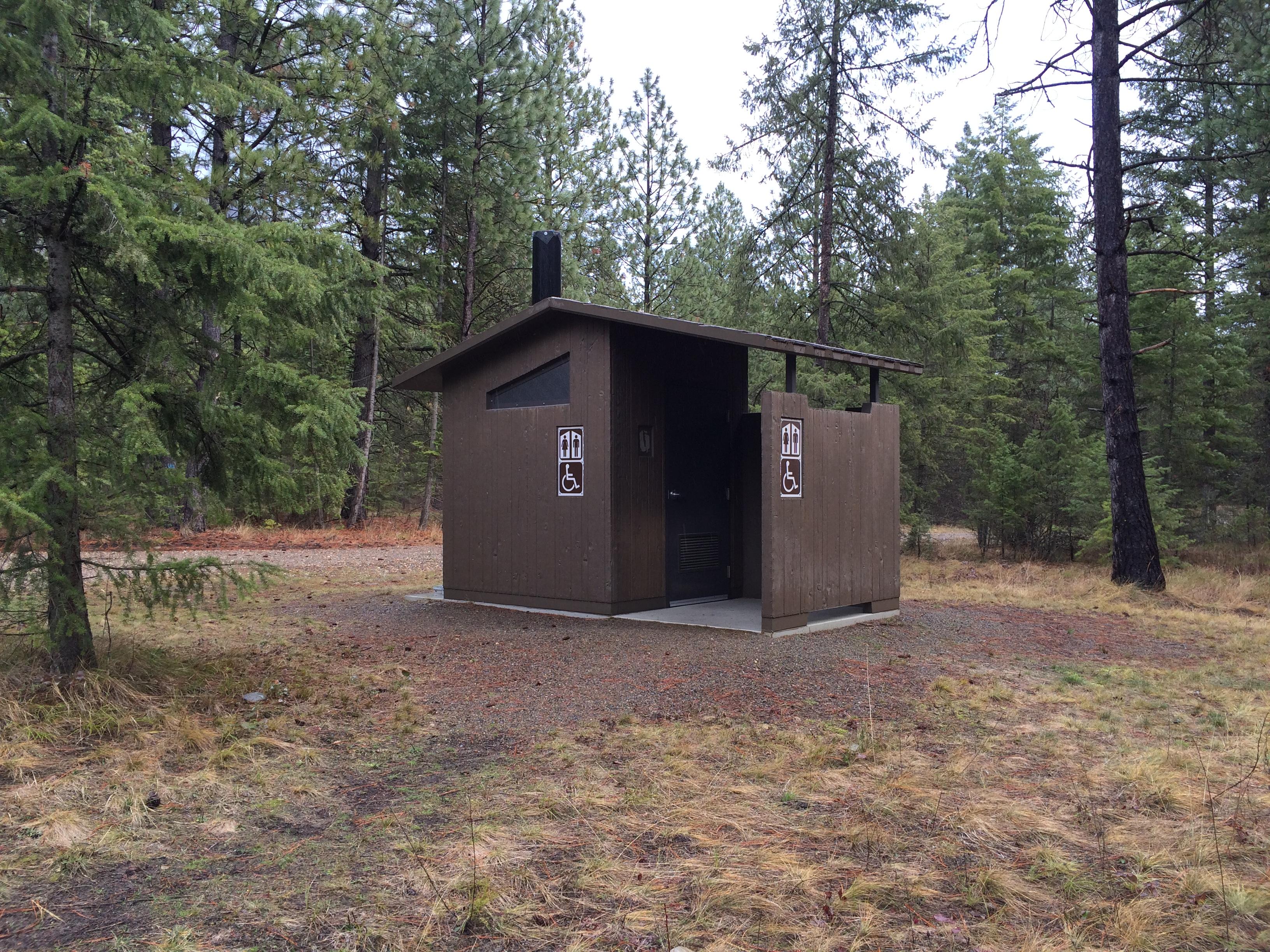 Aspen Vault Concrete Toilet-Barnwood