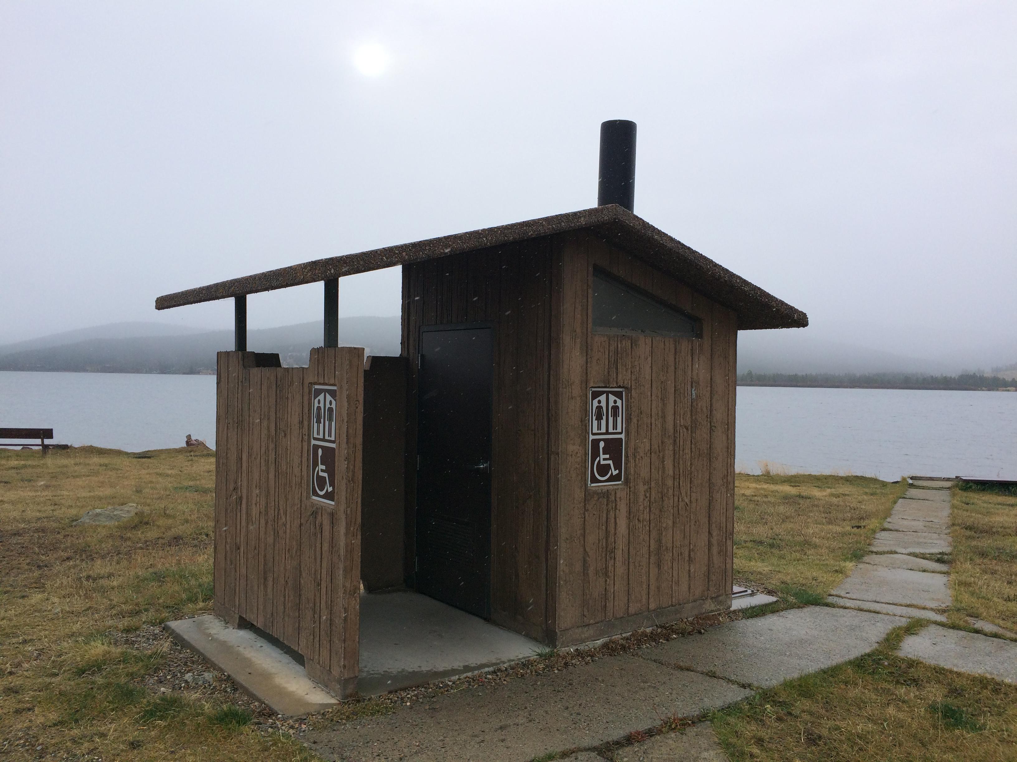 Aspen Vault Restroom-Barnwood