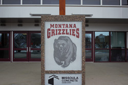 Graphic Concrete Griz Sign