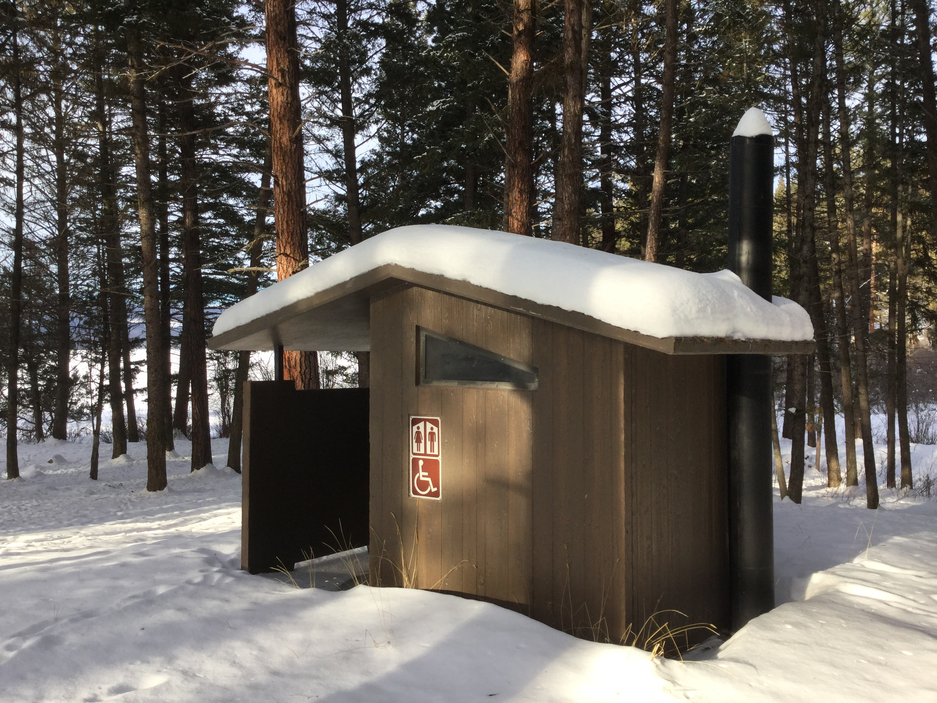 Vault Concrete Toilet-Barnwood