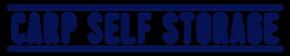 Carp Self Storage Logo Letters