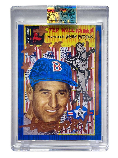 1954 Ted Williams by Gregory Siff - Rose Gold Auto /1