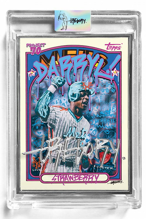 1972 Darryl Strawberry by Gregory Siff Artist Proof - Liquid Chrome Autograph