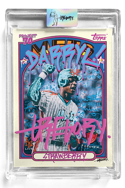 1972 Darryl Strawberry by Gregory Siff - Magenta Autograph