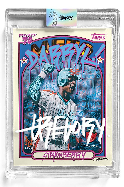 1972 Darryl Strawberry by Gregory Siff - White Autograph