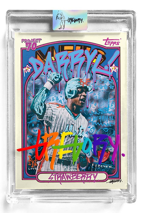 1972 Darryl Strawberry by Gregory Siff - Rainbow Autograph