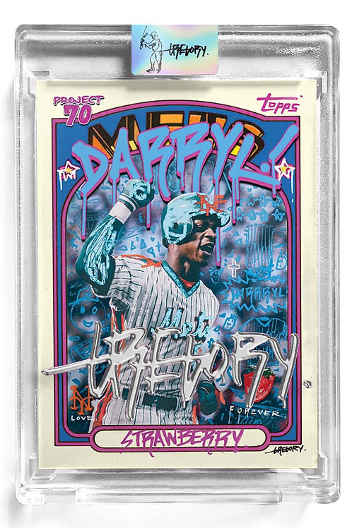 1972 Darryl Strawberry by Gregory Siff - Liquid Chrome Autograph