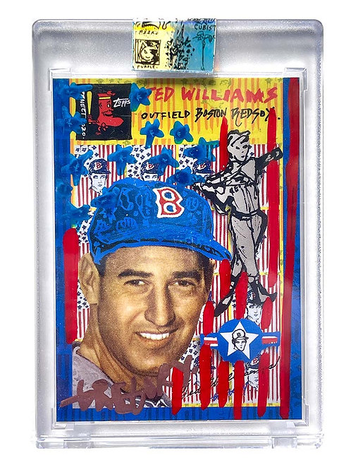 1954 Ted Williams by Gregory Siff - Red, White & Blue Auto /9