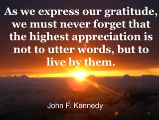 Gratitude Shows!
