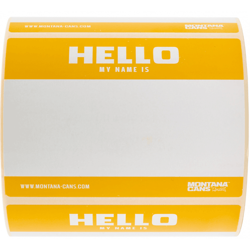 Sticker ' Hello my name is ' Montana Cans