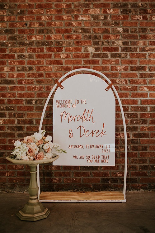 Arched Wedding Signs