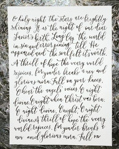 Christmas Calligraphy