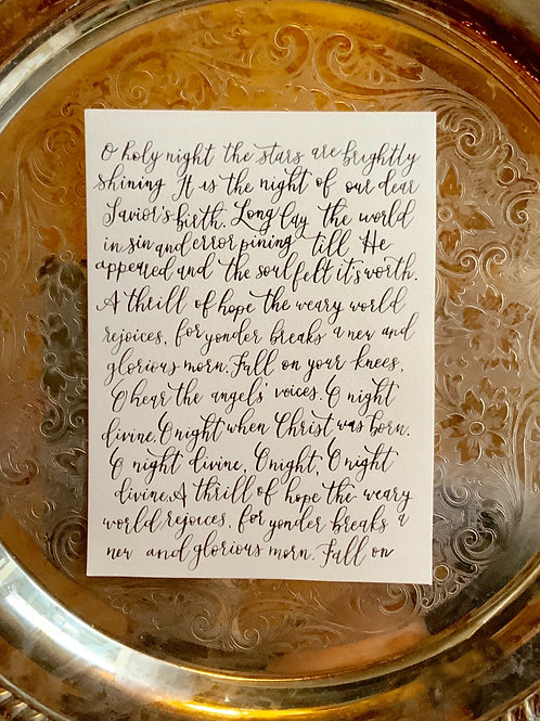 Holiday Calligraphy Print
